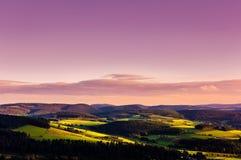 Панорама захода солнца стоковое изображение rf