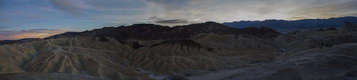 Панорама захода солнца Death Valley Стоковая Фотография RF