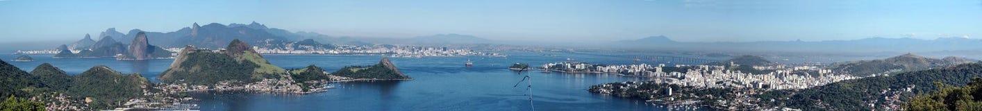 Панорама залива Рио, Бразилия стоковое фото rf