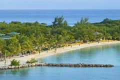 Панорама залива Mahogany в Roatan, Гондурасе стоковые фотографии rf