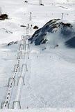 Панорама зимы Альпов от пика Стоковое Изображение RF