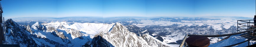 Панорама зимы в высоком Tatras Стоковая Фотография