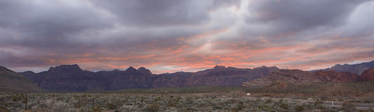 Панорама зоны консервации красного каньона утеса национальная Стоковая Фотография