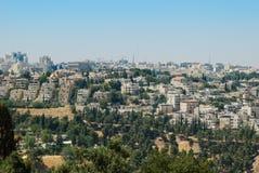 Панорама Иерусалима, Израиля Стоковая Фотография RF