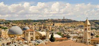 Панорама Иерусалима от цитадели Стоковые Фотографии RF