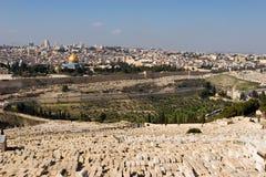 панорама Иерусалима Стоковая Фотография