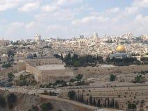 Панорама Иерусалима, взгляд горы виска Израиль Стоковая Фотография