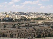 Панорама Иерусалима, взгляд горы виска Израиль Стоковое фото RF