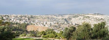 панорама Иерусалима города старая Стоковые Изображения
