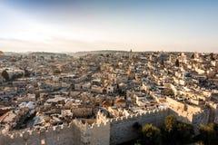 Панорама Иерусалима от севера, Израиля Стоковое Фото