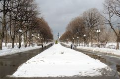 Панорама парка Gorky в зиме стоковые фотографии rf
