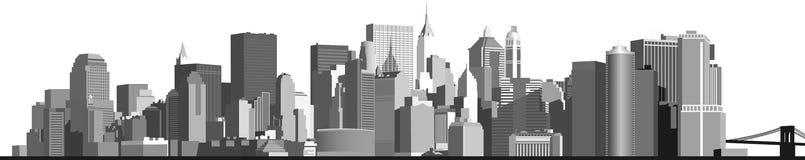 панорама иллюстрации grunge города предпосылки большая ввела урбанский вектор в моду стоковое изображение