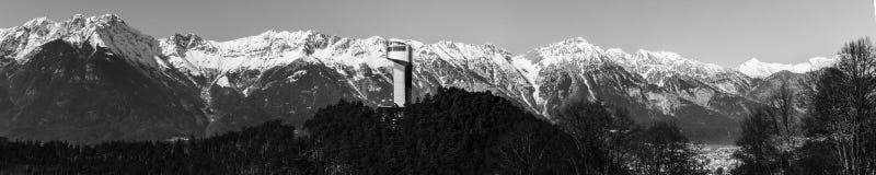 Панорама Инсбрук Bergisel Стоковое Изображение RF