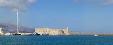Панорама ираклиона крепости стоковые фото