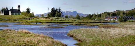 панорама Исландии Стоковые Изображения