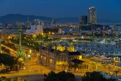панорама Испания города barcelona Стоковые Фотографии RF