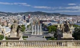 панорама Испания города barcelona Стоковые Фото