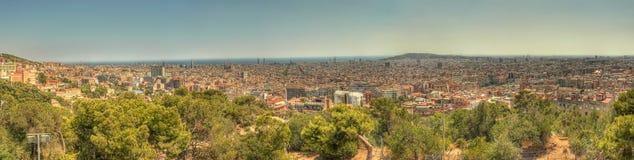 панорама Испания barcelona Стоковая Фотография RF
