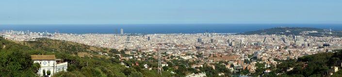 панорама Испания barcelona Стоковое Изображение
