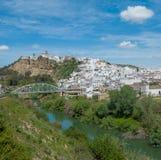 панорама Испания la andalusia arcos de frontera Стоковая Фотография RF