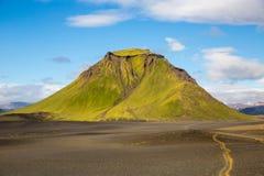 Панорама исландских гор Стоковые Изображения