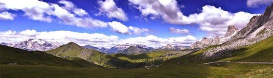 панорама Италии доломитов Стоковое фото RF