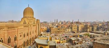 Панорама Каира от строба Bab Zuwayla, Египта стоковая фотография rf