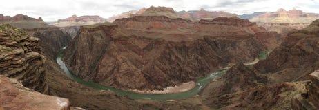 панорама каньона грандиозная внутренняя стоковое изображение