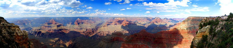 панорама каньона грандиозная Стоковые Изображения RF