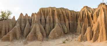 Панорама каньона размывания на горе Koranna около эксцельсиора Стоковое Фото