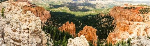 Панорама каньона Bryce Стоковые Фотографии RF