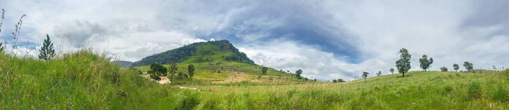 Панорама Канди Шри-Ланка Стоковые Изображения RF