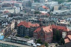 Панорама Катовице стоковое фото rf