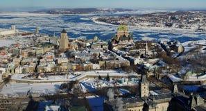 панорама Квебек города стоковое изображение rf