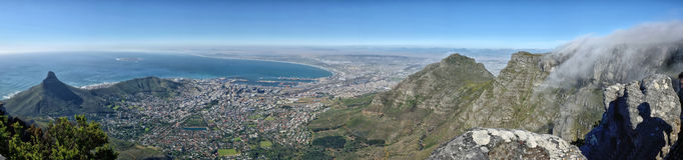 Панорама Кейптауна Стоковая Фотография RF