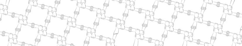 панорама команда приятельство Защита всеединство Концепция Руки Стоковые Изображения RF