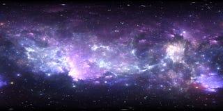 панорама космоса 360 градусов, equirectangular проекция, карта окружающей среды Панорама HDRI сферически бесплатная иллюстрация