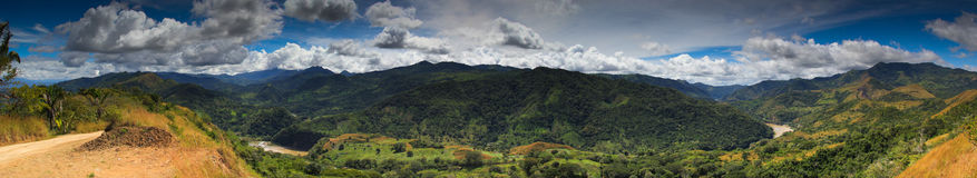 Панорама/Коста-Рика Boruca Стоковые Изображения RF