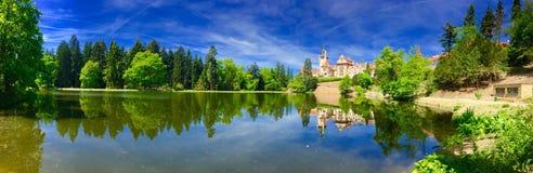 Панорама красивого замка Стоковые Изображения RF