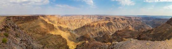 Панорама красивого каньона реки рыб на юге  Намибии, Южной Африки Стоковое Изображение RF