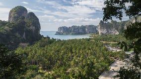 Панорама красивого Railay krabi Таиланд Стоковая Фотография