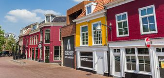 Панорама красочных баров в Leeuwarden Стоковые Фотографии RF