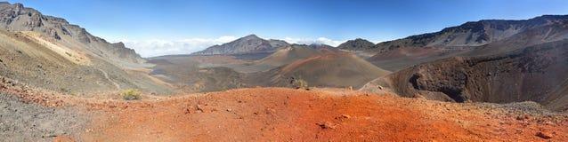 Панорама кратера Haleakala, Мауи Стоковое Изображение
