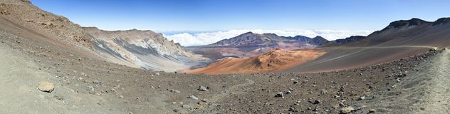 Панорама кратера Haleakala, Мауи Стоковое Изображение RF