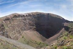 Панорама кратера Mount Vesuvius в Италии Стоковые Фотографии RF
