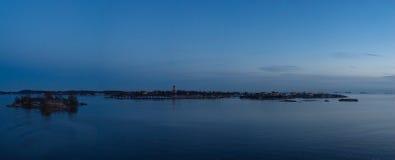 Панорама крепости Суоменлинны или Sveaborg, Хельсинки стоковое фото rf
