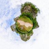 Панорама круга каменного парка горы Стоковые Фото