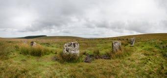 Панорама круга серых Wethers каменная стоковые фото