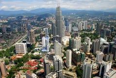 панорама Куала Лумпур Малайзии города Стоковые Изображения RF