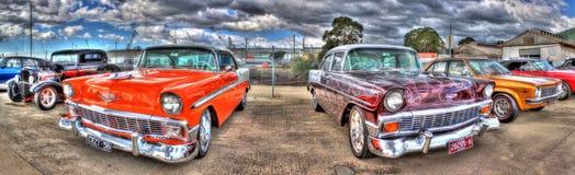 Панорама классического Chevy американца Стоковые Изображения